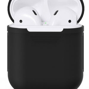 Airpods Silicone Case Cover Hoesje voor Apple Airpods - Zwart