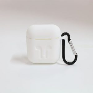 Airpods hoesje siliconen case cover Beschermhoes-Wit