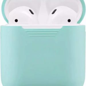 Airpods Silicone Case Cover Hoesje voor Apple Airpods - Mintgroen