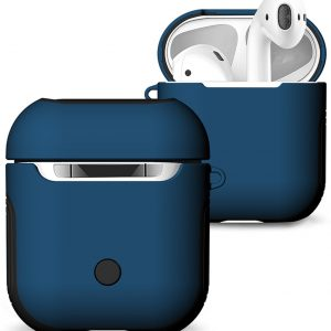 Hybride Silicone Case Cover Hoesje voor Apple Airpods - Blauw