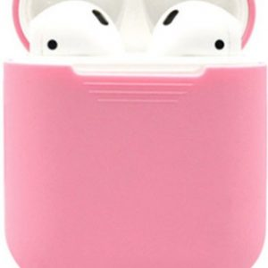 Airpods Silicone Case Cover Hoesje voor Apple Airpods - Licht Roze