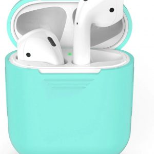 Airpods Silicone Case Cover Hoesje voor Apple Airpods - Lichtblauw