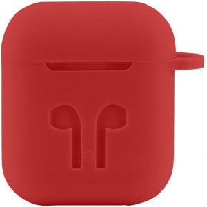 Case Cover Voor Apple Airpods - Siliconen | Rood | Watchbands-shop.nl