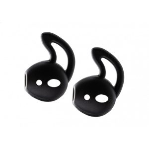 Xccess Silicone Earbuds with Ear Hook for Apple Earpod/Airpod Black