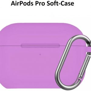 Apple AirPods Pro Soft Silicone Hoesje Met sleutelhanger - Paars