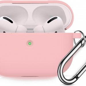 Apple AirPods Pro Soft Silicone Hoesje Met sleutelhanger - Roze