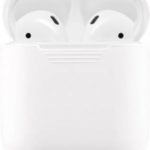 GadgetBay Soft Silicone hoesje voor Apple AirPods Case - Wit