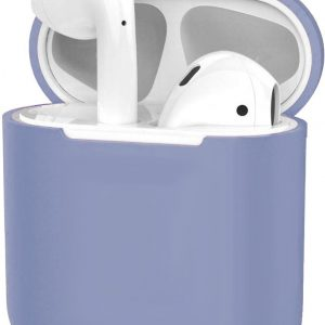 Hoes voor Apple AirPods 1 Case Siliconen Hoesje Ultra Dun Cover - Lila
