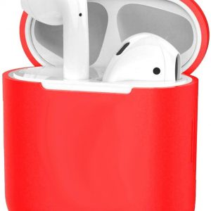 Hoes voor Apple AirPods 1 Case Siliconen Hoesje Ultra Dun Cover - Rood
