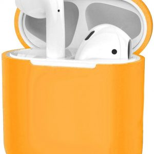 Hoes voor Apple AirPods Hoesje Case Siliconen Cover Ultra Dun - Oranje