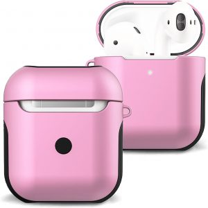 Hoesje Voor Apple AirPods Case Hoes Hard Cover - Licht Roze