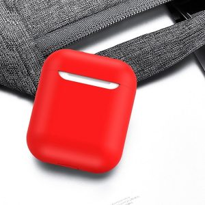 Mobigear Glory Siliconen Cover Rood voor Apple AirPods