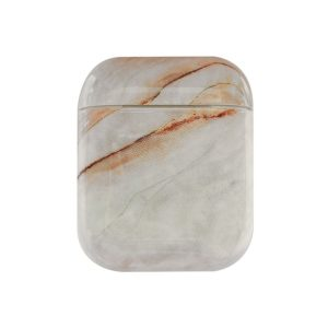 Mobigear Marble Siliconen Cover Beige voor Apple AirPods