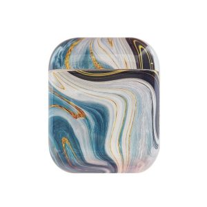 Mobigear Marble Siliconen Cover Cyan voor Apple AirPods