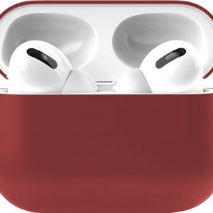 Siliconen Case Apple AirPods Pro donker rood - AirPods hoesje donker rood