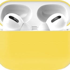 Siliconen Case Apple AirPods Pro geel - AirPods hoesje geel