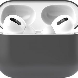 Siliconen Case Apple AirPods Pro grijs - AirPods hoesje grijs