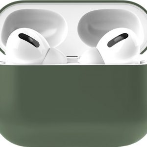 Siliconen Case Apple AirPods Pro groen - AirPods hoesje groen - midnight green
