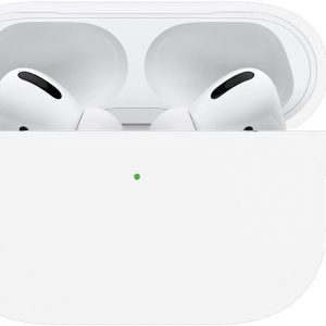 Siliconen Case Cover Voor Apple AirPods Pro Hoesje Hoes - Wit