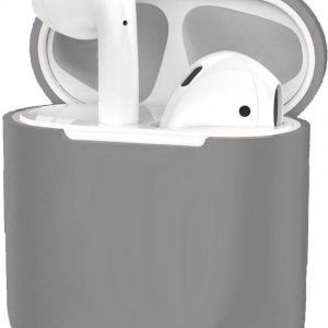 Siliconen Hoes voor Apple AirPods 2 Case Cover Ultra Dun Hoes - Grijs