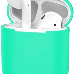 Siliconen Hoes voor Apple AirPods 2 Case Ultra Dun Hoes - Turquoise