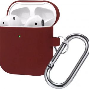 AirPods Hoesje - Siliconen Case - Airpods 1/2 Hoesje - Bordeaux - Burgundy