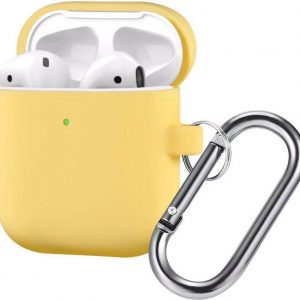 AirPods Hoesje - Siliconen Case - Airpods 1/2 Hoesje - Geel - Yellow
