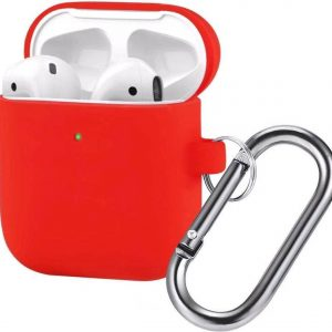 AirPods Hoesje - Siliconen Case - Airpods 1/2 Hoesje - Rood - Red