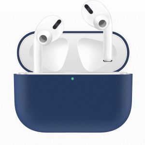 AirPods Pro Hoesje - Siliconen Case - Airpods Pro Hoesje - Blauw - Blue