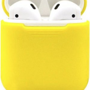 Airpods Silicone Case Cover Hoesje voor Apple Airpods - Geel