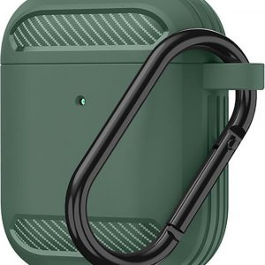 Carbon hoesje voor Apple Airpods - Groen - Case - Shockproof