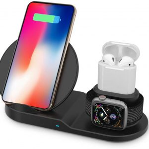 MMOBIEL 3 in 1 Draadloze QI Oplaad Station - Oplader - 7.5W / 10W - voor iPhone / Samsung / Apple Watch / Airpods