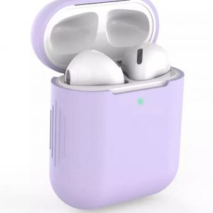 Bescherm Hoes Cover Case voor Apple AirPods (Siliconen) - Lila