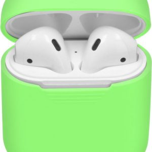 iMoshion Siliconen Case Voor Airpods - Fluor Groen - Groen / Green