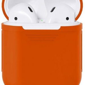 Airpods Silicone Case Cover Hoesje voor Apple Airpods - Oranje
