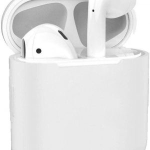 Airpods Case - Siliconen - Bescherming - Case- Cover - Hoesje - Airpods 1/2 - Wit