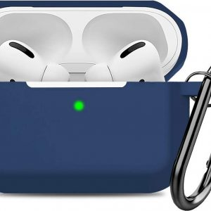 Airpods Pro Hoesje - Siliconen Soft Case - Donkerblauw