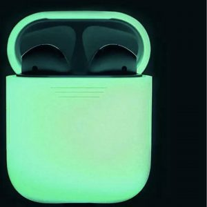 Siliconen Bescherm Hoes Cover Case voor Apple AirPods - Glow In The Dark