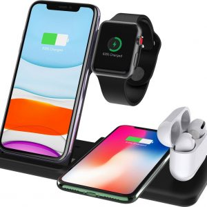 18w wireless charger 4 in 1 station stand dock Charger Q20 Voor Apple watch/ Airpods pro