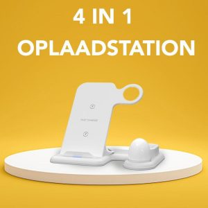 Achaté Oplaadstation iPhone - 4 in 1 Docking Station Apple - Snelle Draadloze Oplader iPhone / iWatch / AirPods - Fast Charger - Wireless - Wit
