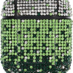 """AirPods Case """"Bling Bling"""" GROEN - Airpods hoesje - Airpods case - Beschermhoes voor AirPods 1/2"""
