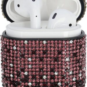 """AirPods Case """"Bling Bling"""" PAARS - Airpods hoesje - Airpods case - Beschermhoes voor AirPods 1/2"""