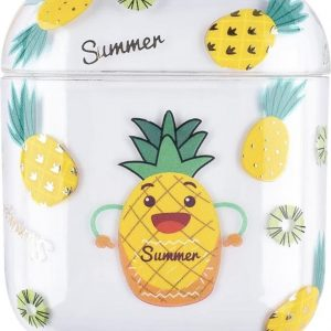 """AirPods Case """"Summer Ananas"""" - Airpods hoesje - Airpods case - Beschermhoes voor AirPods 1/2"""