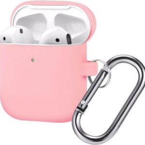 AirPods Hoesje - Siliconen Case - Airpods 1/2 Hoesje - Roze - Pink