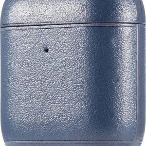 AirPods hoesje van By Qubix - AirPods 1/2 hoesje Genuine Leather Series - hard case - blauw