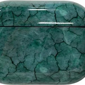 Airpods Pro Hoesje - Airpods Pro Cover - Airpods Pro Case - Airpods Pro Hardcase - Airpods Pro Bescherming - Airpods Case - Geschikt voor Airpods Pro - Marble Green