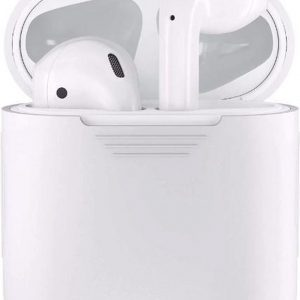 Airpods Silicone Case Cover Hoesje voor Apple Airpods - Wit