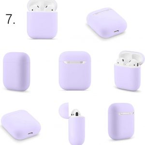 Apple AirPods 1 & 2 effen soft case - paars -