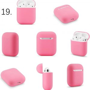 Apple AirPods 1 & 2 effen soft case - rose rood -