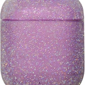 Apple AirPods 1 & 2 glitter hard case - paars -